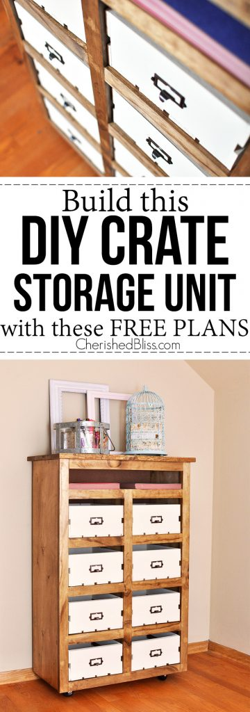 Build this DIY Crate Storage Unit to help keep everything organized and out of sight!