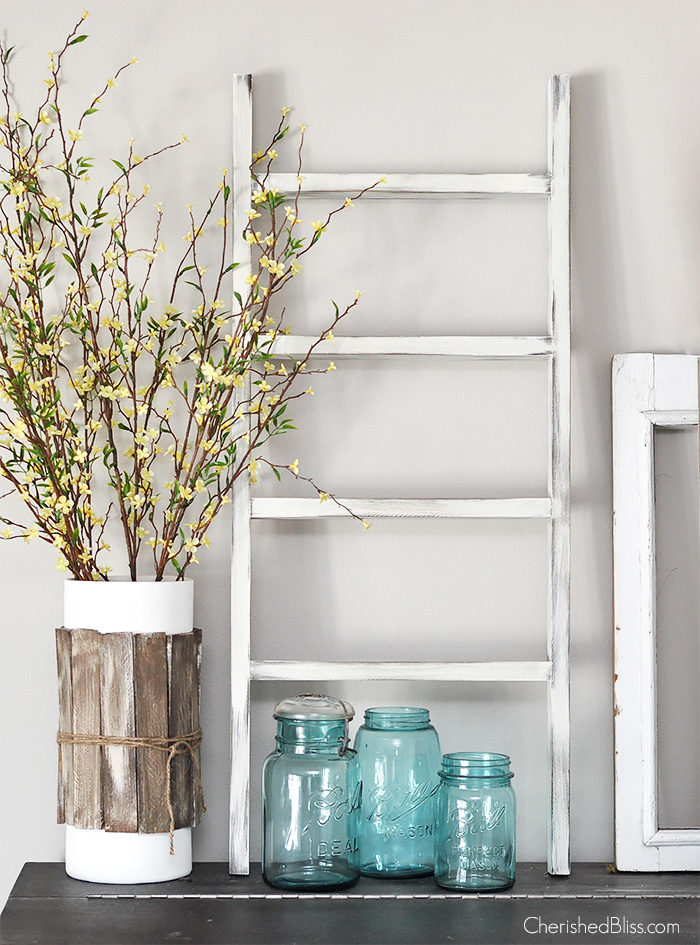 With this simple, quick, and easy DIY wooden Ladder Tutorial you can build your very own for under $5!!