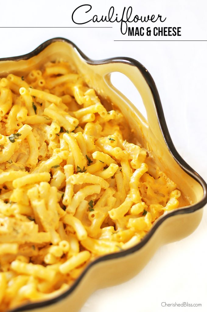 Sneak some veggies into your kid's food with this easy Cauliflower Mac and Cheese Recipe