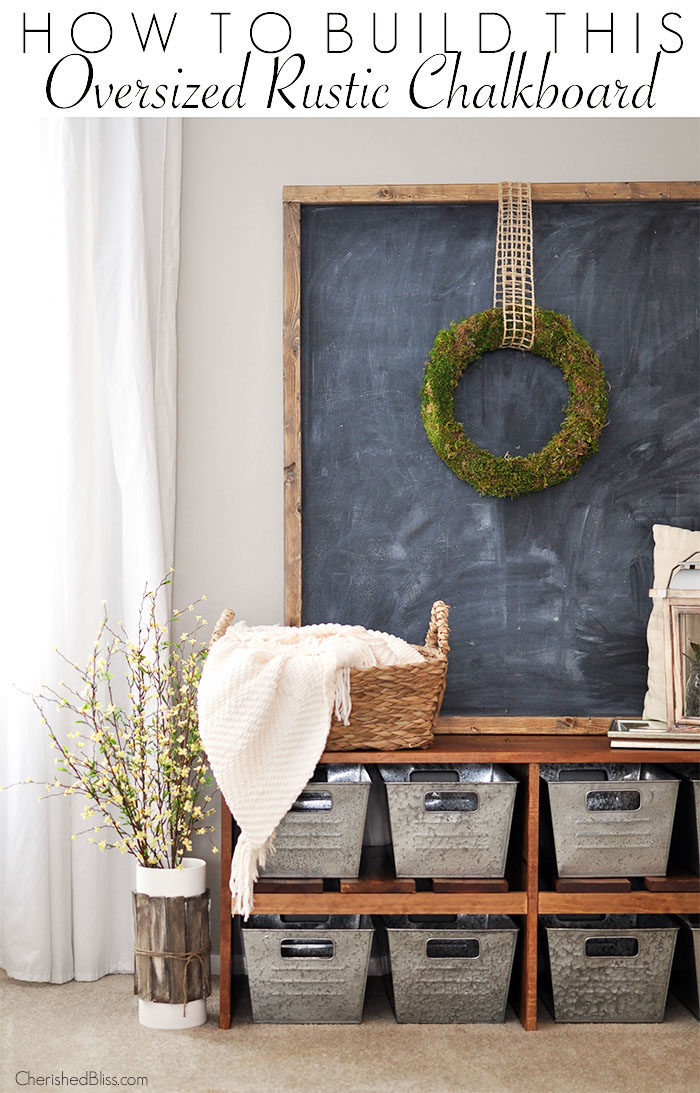 wedding rustic decorations oversized rustic chalkboard tutorial cherished bliss 1093