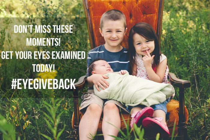 It's so important to get your kids eyes examined! #eyegiveback