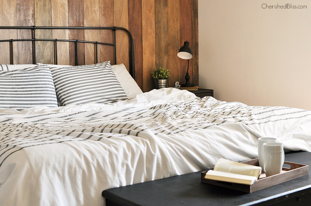This Rustic Industrial Master Bedroom Is Warm Cozy And Inviting The Perfect Place