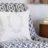 DIY Antler Pillow Tutorial