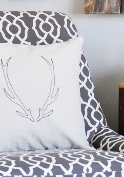 With just a few simple supplies you can create this DIY Antler Pillow. Get the tutorial via cherishedbliss.com