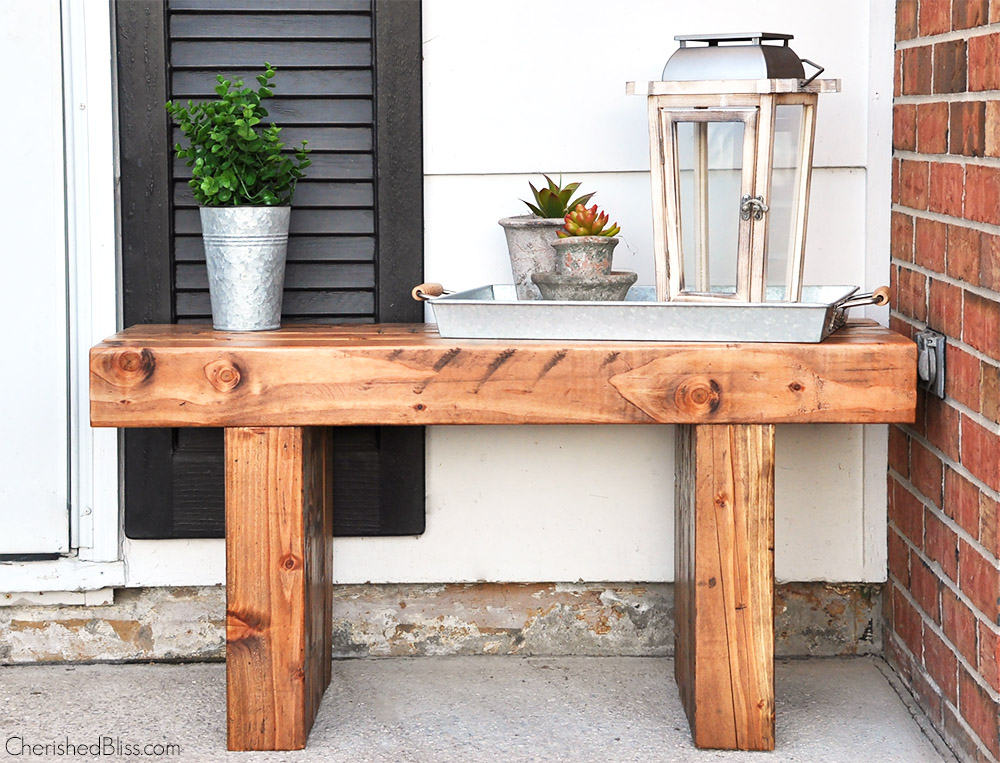 Diy outdoor bench free plans cherished bliss for Diy garden bench designs