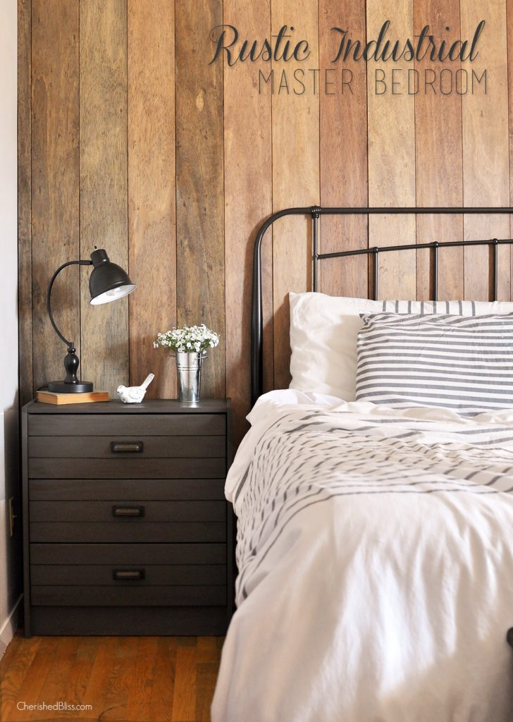 rustic industrial master bedroom reveal cherished bliss. Black Bedroom Furniture Sets. Home Design Ideas