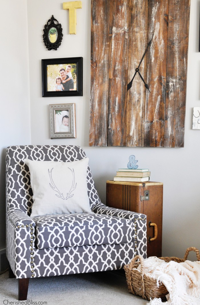A Living Room Accent Chair Update Cherished Bliss
