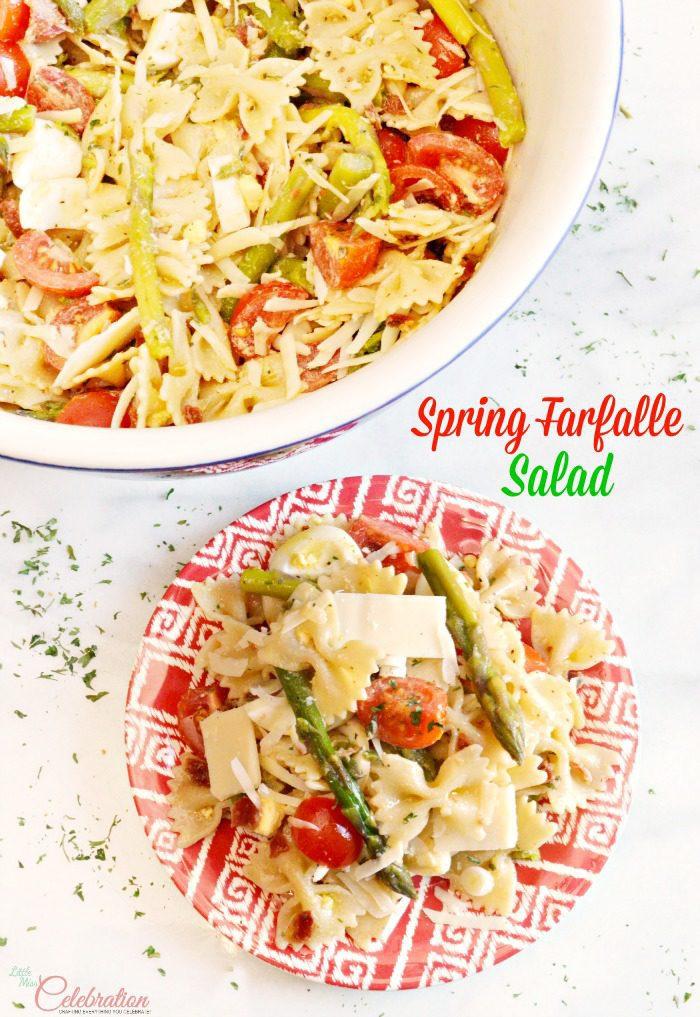 Spring Farfalle Salad