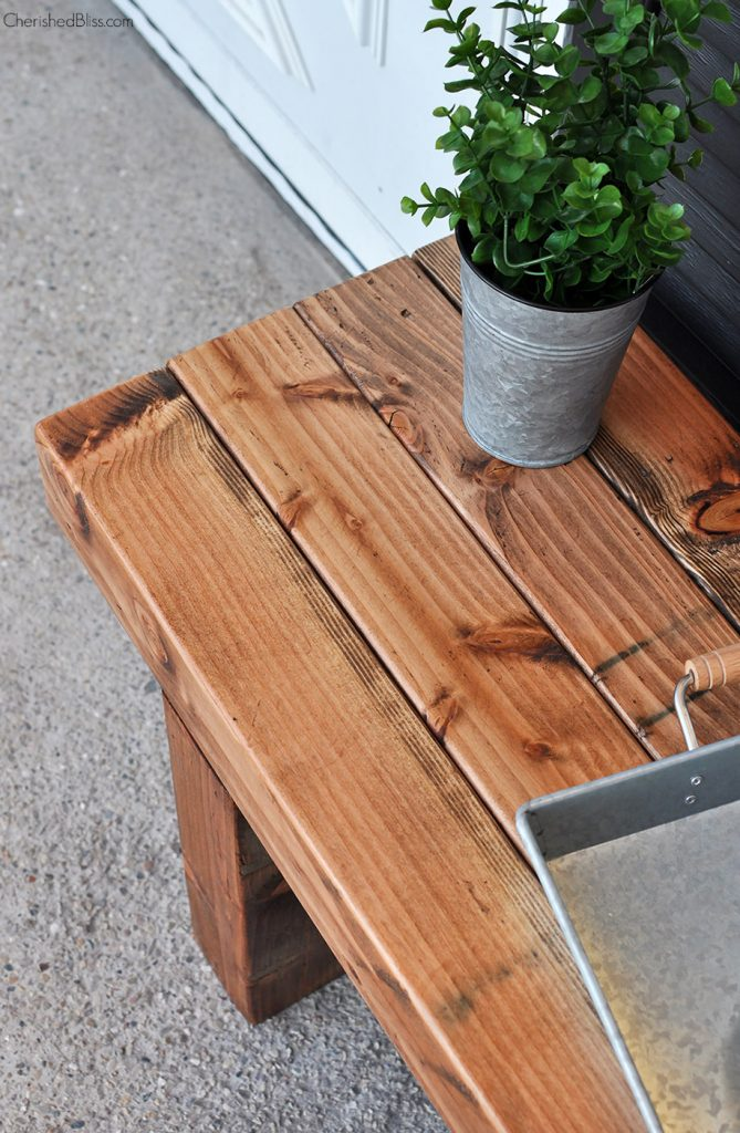 Diy Bench Diy Outdoor Bench Free Plans Cherished Bliss