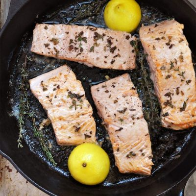 Iron Skillet Seared Salmon