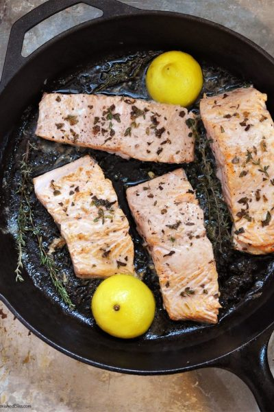 Iron Skillet Seared Salmon