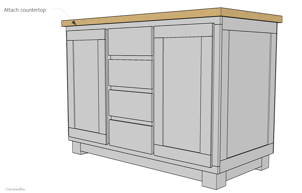 Diy Kitchen Island how to build a diy kitchen island - cherished bliss