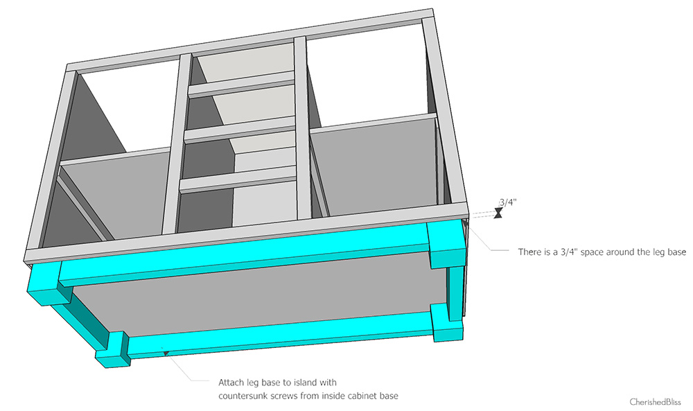 How To Build A DIY Kitchen Island Cherished Bliss - How to build your own kitchen island