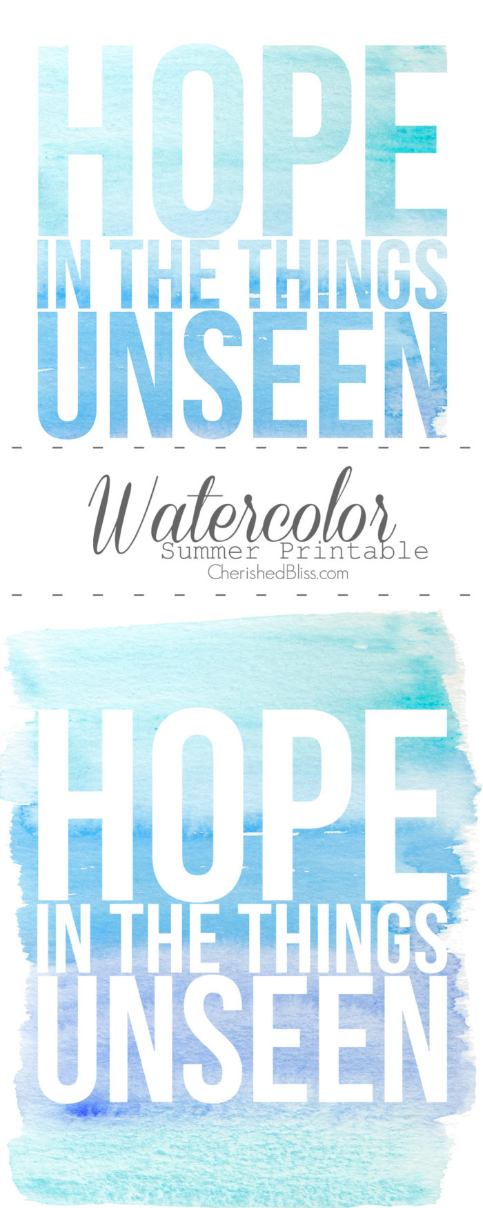 Watercolor Summer Printable