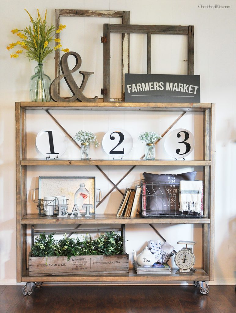 Industrial Bookcase Diy Rolling Diy Bookshelf Restoration Hardware Knockoff