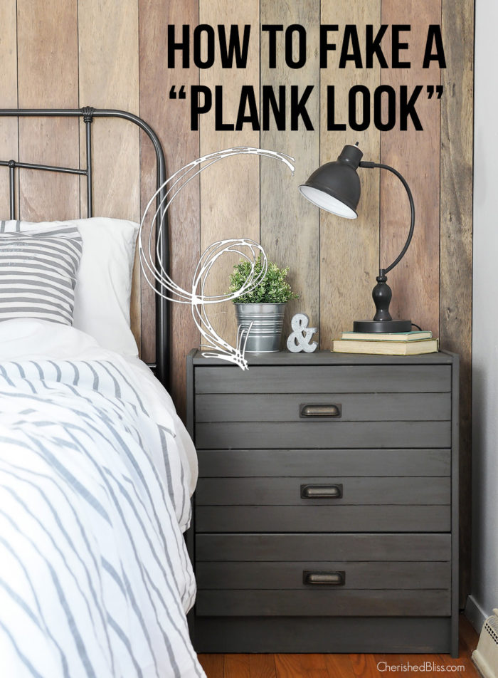 With this simple technique you can create a DIY Plank look without actually using planks. It's a budget friendly alternative and can help you achieve the look you always dreamed of!