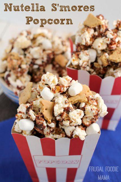 Nutella Smores Popcorn | Frugal Foodie Mama