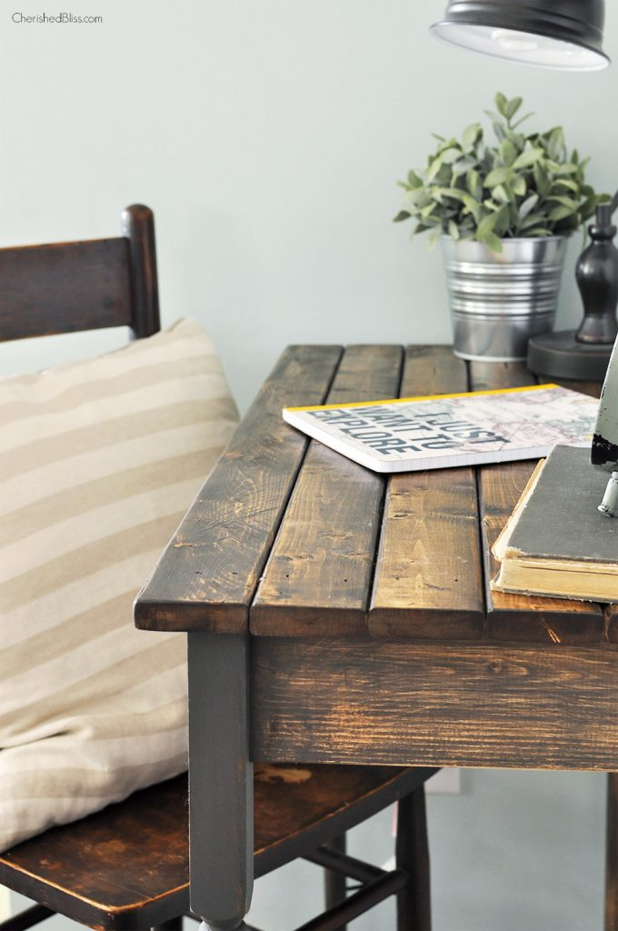 Diy Farmhouse Writing Table Free Plans Cherished Bliss