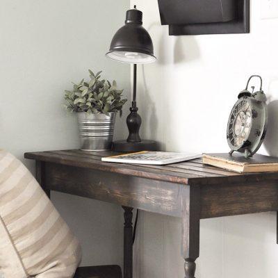DIY Farmhouse Writing Table | Free Plans