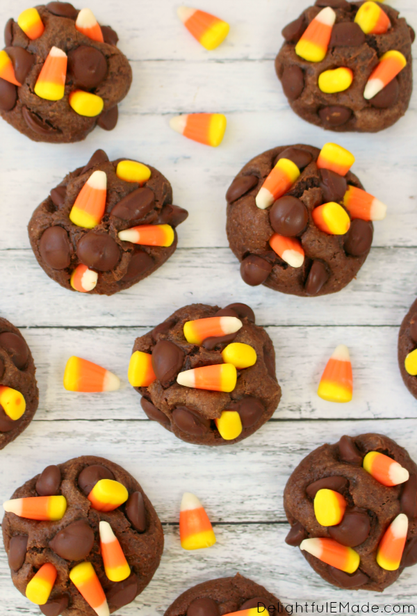 Double-Chocolate-Candy-Corn-Cookies-DelightfulEMade.com-vert4