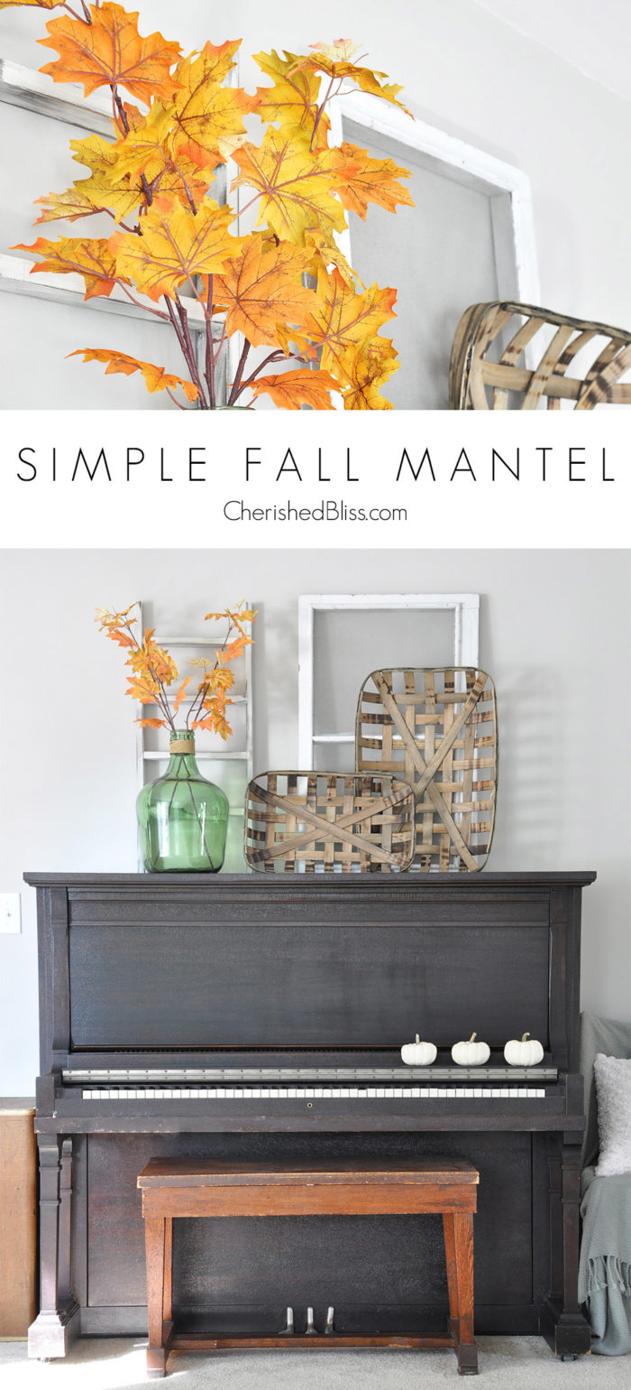 Decor doesn't always have to be difficult, and less really can be more. Come take a look at this Simple Fall Mantel and how beautiful simplicity really is.