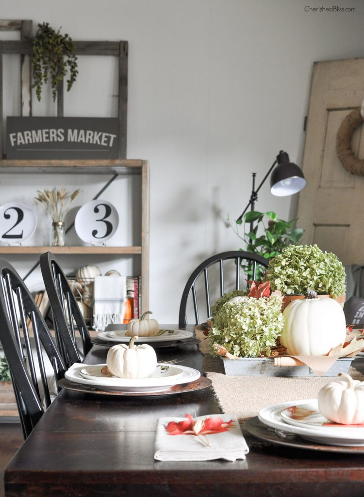 Fall Table Scapes Simple Farmhouse Fall Tablescape Cherished Bliss