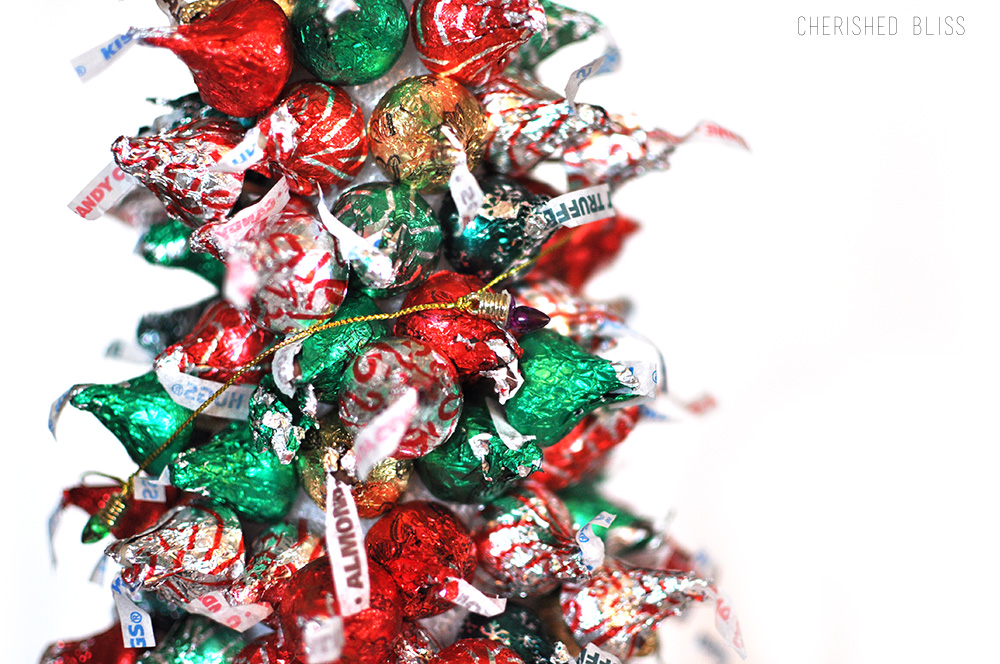 Hershey\'s Kisses Christmas Tree Tutorial - Cherished Bliss
