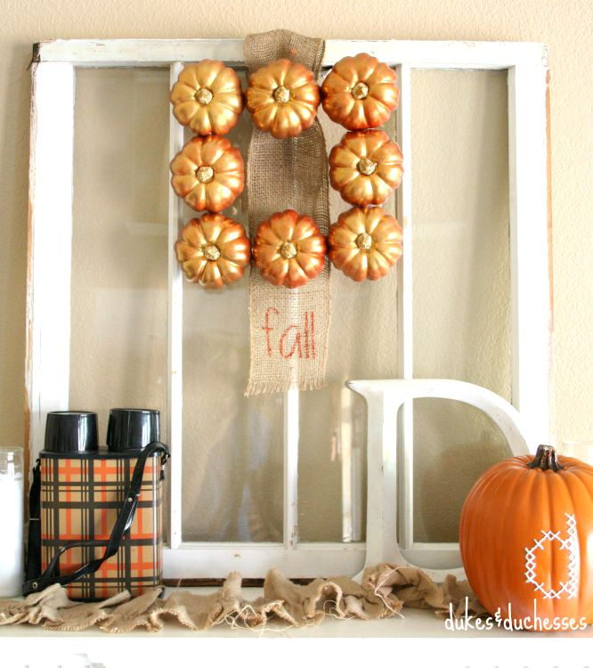 Metallic Fall Wreath | Dukes and Duchesses