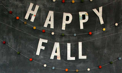 Happy Fall Banner | Heart Handmade UK