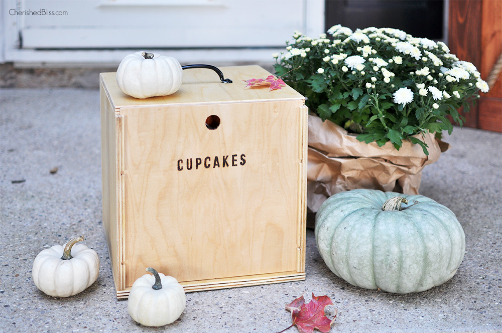 Diy cupcake box carrier tutorial free plans for Wooden box tutorial