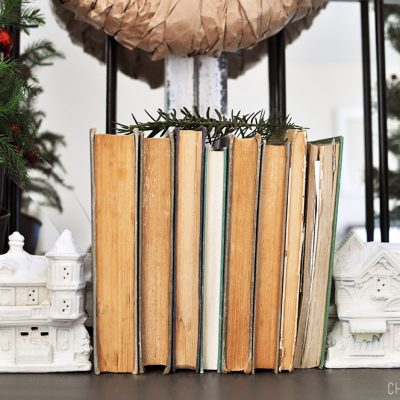 Snowy Village Book Ends
