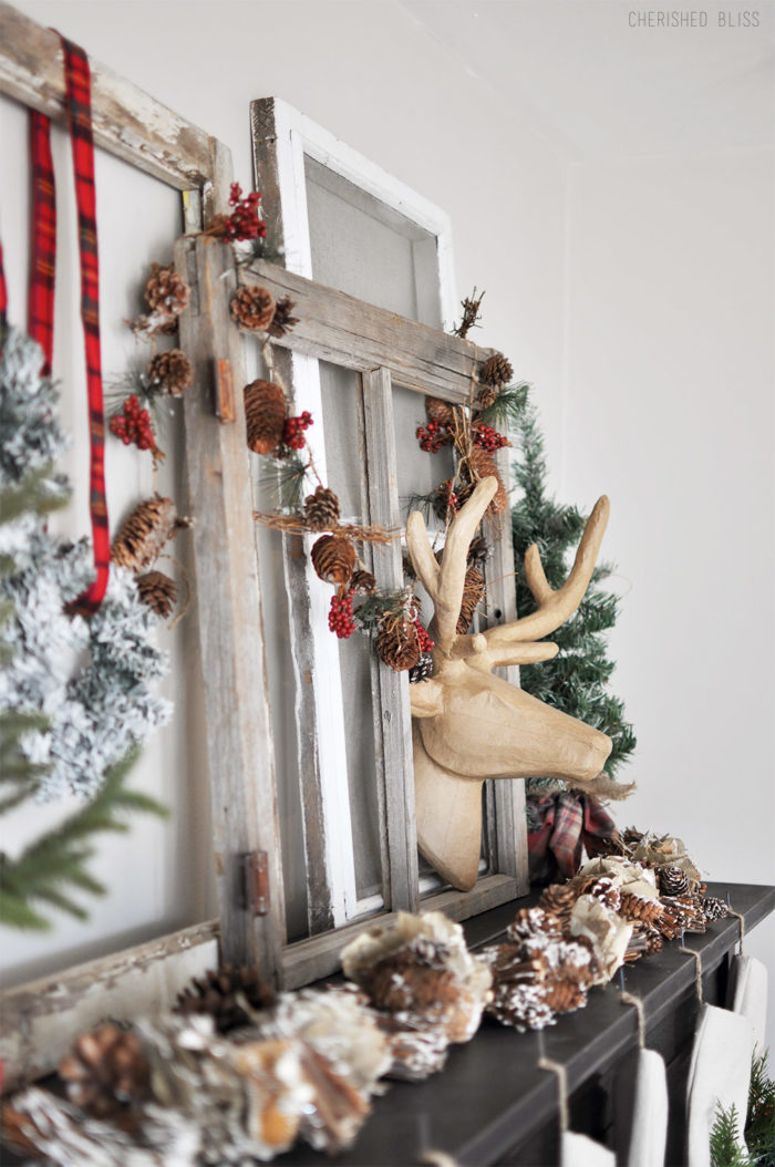 Take a stroll through this beautiful, cozy Christmas Home tour featuring natural colors with pops of red!