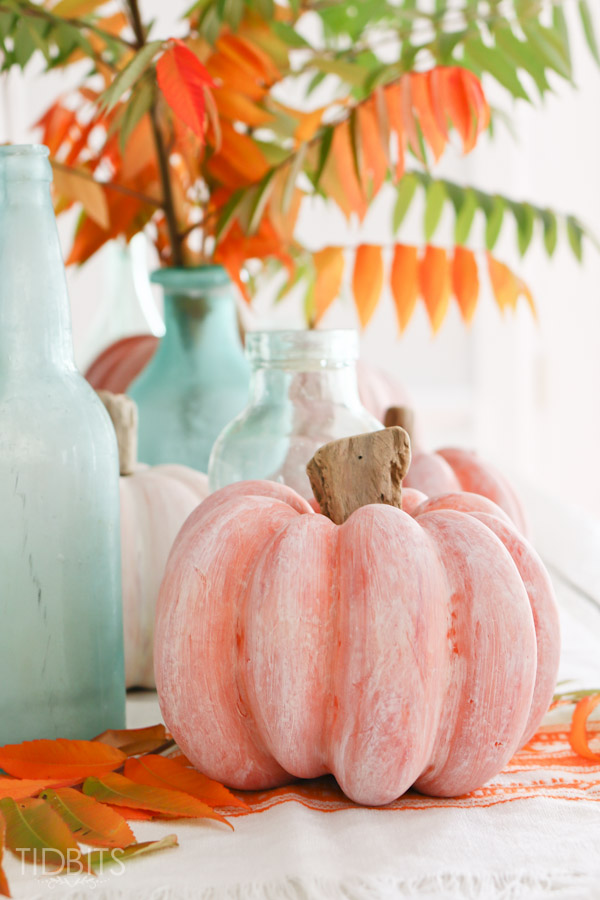 White Washed Pumpkins - Thanksgiving DIY Decor Ideas