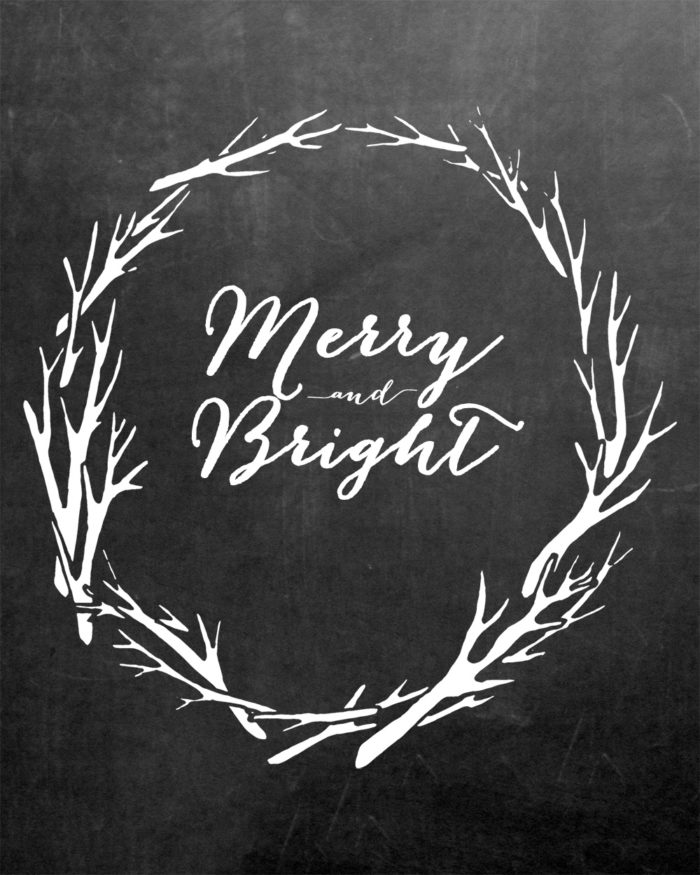 Enjoy these Free Christmas Chalkboard Printables. Perfect for any decor!