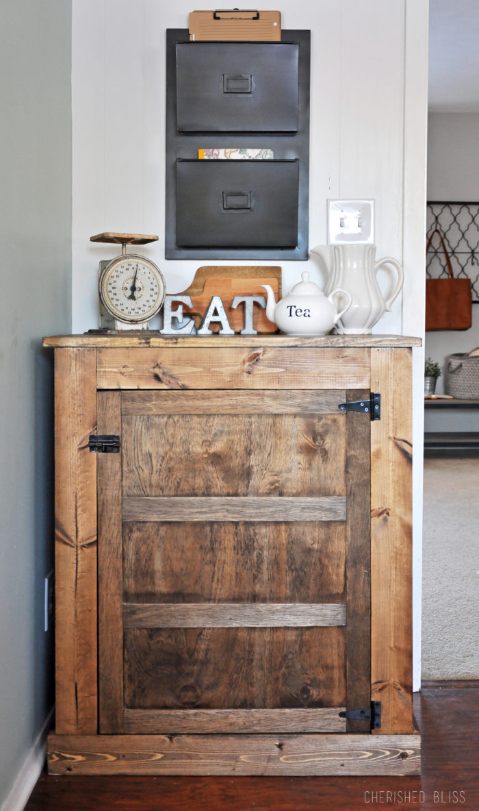 Build This DIY Farmhouse Buffet With These Easy To Follow Free Plans Is