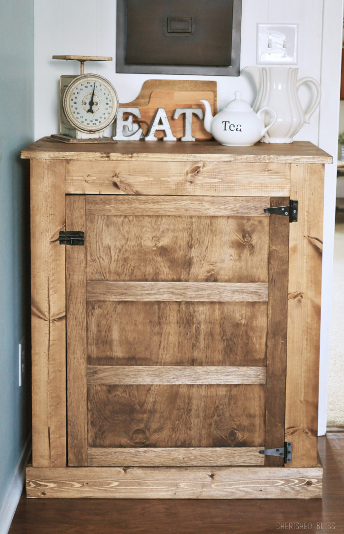 It Has All The Rustic Charm Of A Full Sized Buffet Just Perfect For Smaller Space Cherished Bliss Shows Us How To Build This DIY Small Famhouse Style