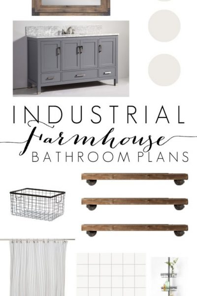 Industrial Farmhouse Bathroom Inspiration