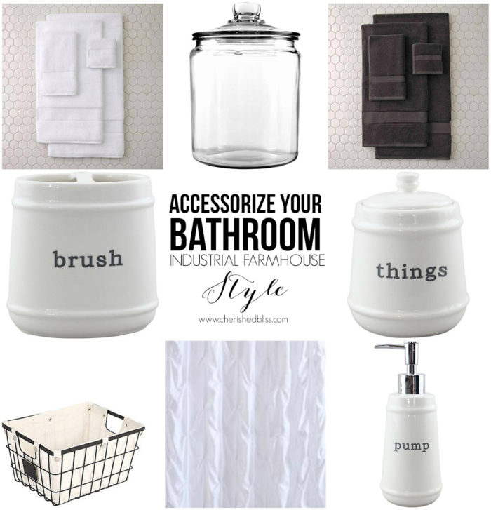 Accessorize Your Bathroom Industrial Farmhouse Style