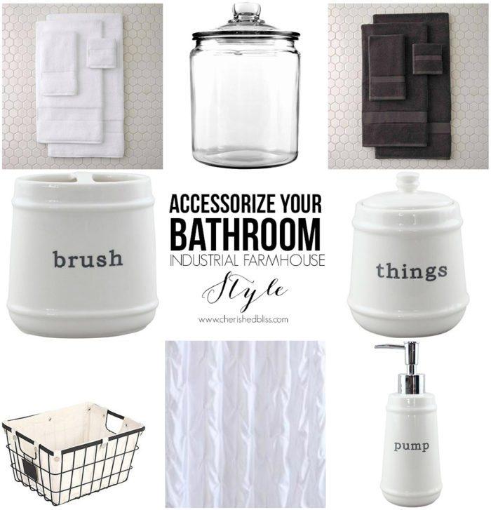 Accessorize Your Bathroom Industrial Farmhouse Style