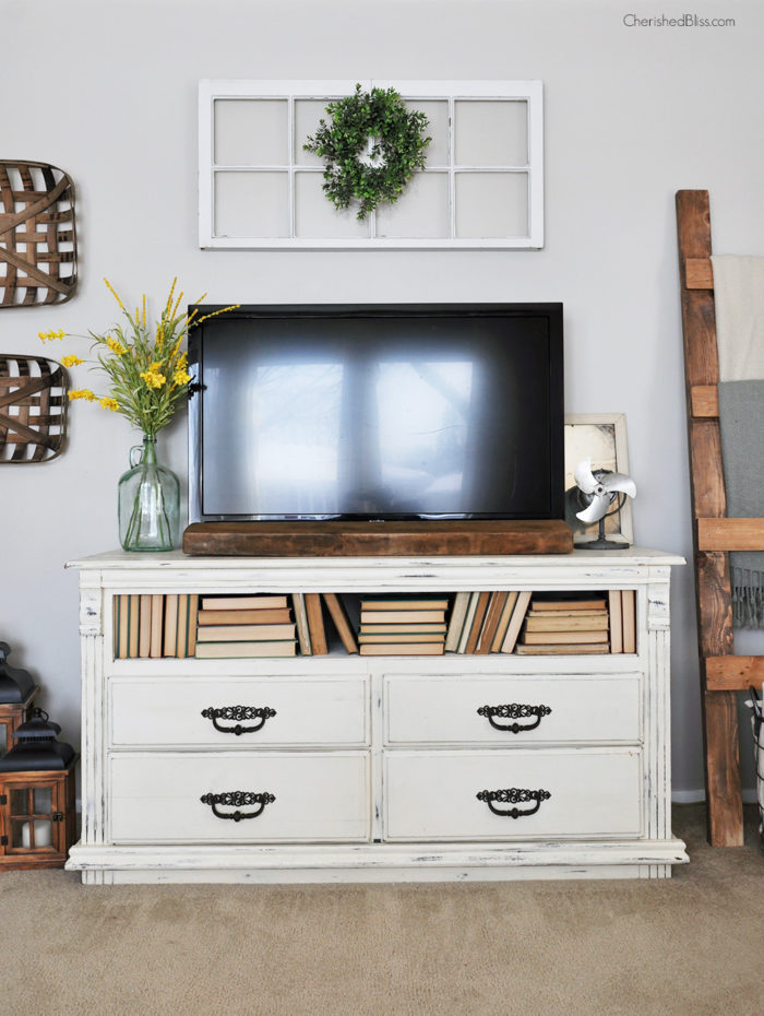With these simple tips and tricks you will learn how to easily decorate around a tv to give your living room the look you desire!