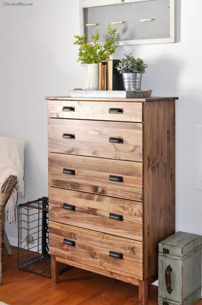Ikea Hack How To Stain An Tarva Dresser
