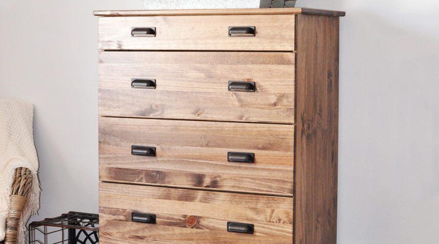 How to Stain an Ikea Tarva Dresser