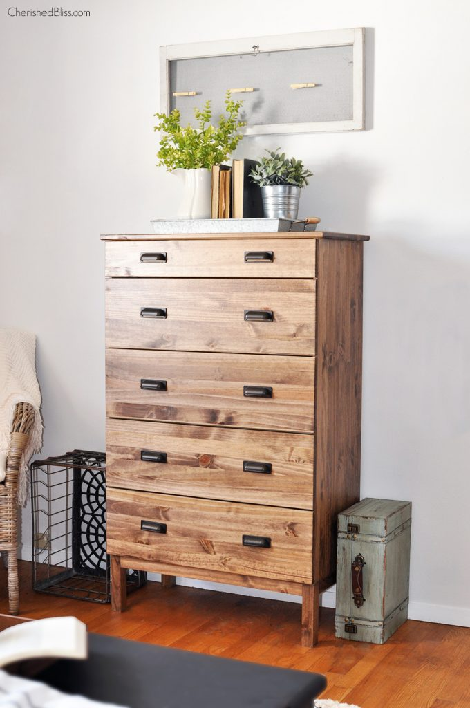 How to stain an ikea tarva dresser cherished bliss for Bedroom dressers ikea