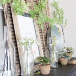 Botanical Farmhouse Mantel | Free Spring Printable