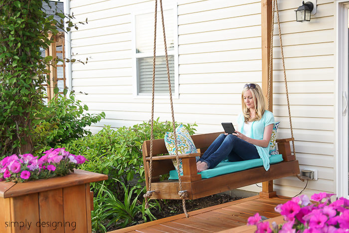 The fresh air is blowing in as we start this beautiful season, and this spring porch swing DIY project is  perfect for your warmer weather to-do list.