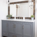 Farmhouse Bathroom Mirror Tutorial