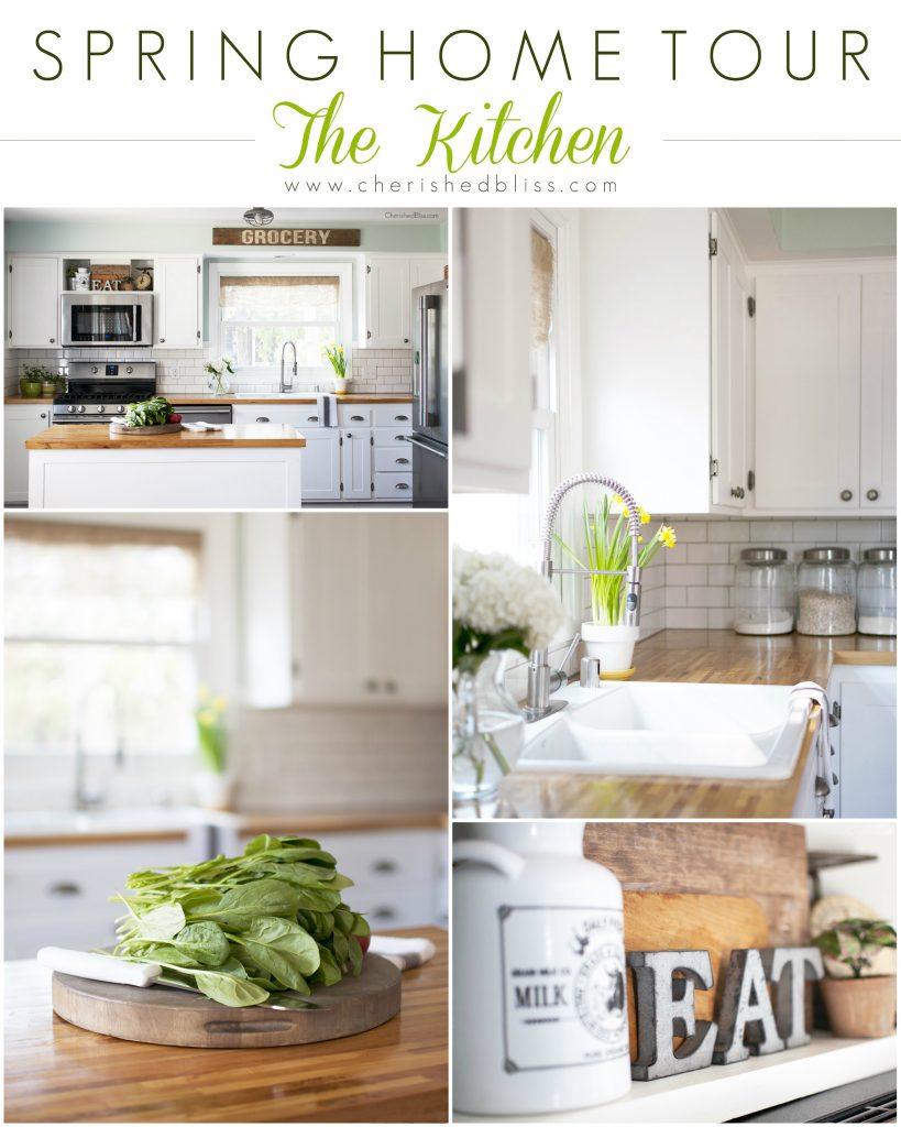 Spring home tour kitchen decor for Decor maison