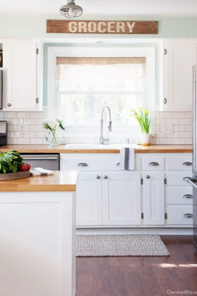 Kitchen Spring Home Tour | Part 1 via cherishedbliss.com