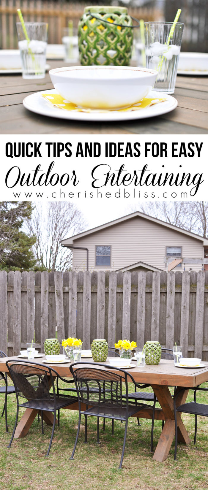 tips for easy outdoor entertaining cherished bliss