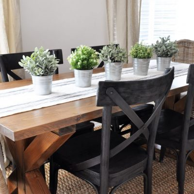 X Brace Farmhouse Table | Free Plans